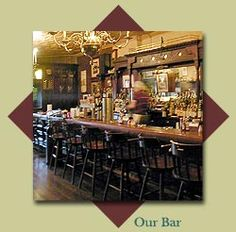 The grand bar at O'Connell's Pub in St. Louis, Missouri.  Smell the Guinness.