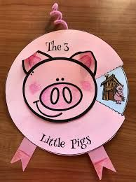 """3 little pigs fairy tale activities, 3 little pigs crafts, retelling a story activities, sequencing a story activities activities Activities & Crafts for """"The 3 Little Pigs"""" Fairy Tale Pig Crafts, Book Crafts, Preschool Activities, Crafts For Kids, Animal Activities, 3 Little Pigs Activities, Fairy Tale Activities, Nursery Rhyme Crafts, Nursery Rhymes Preschool"""