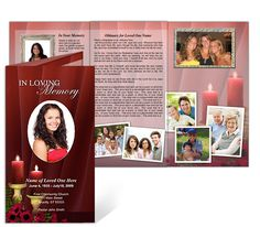 tri fold funeral program template free