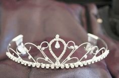 """Beautiful Bridal Wedding Tiara Crown with Crystal Party Accessories DH14059 by click 2 go. $17.99. Made by clear and High Quality crystals, and pearls. Perfect accessory for wedding, prom, pageant, birthday, or other special occasions. Beautiful Bridal Wedding Tiara Crown With Crystal. size:6.5"""" x 1.75""""H. clear color crystal. """"PLEASE LOOK AT SIZE BEFORE ORDER BECAUSE WE ONLY OFFER 7DAYS DAMAGE EXCHANGE ONLY!!!""""  jeweled wedding tiaras crown are the perfect accessory for weddin..."""