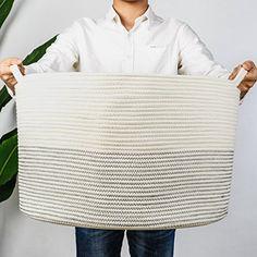 XXXLarge Cotton Laundry Rope Woven /& Toys Basket Strong Flexible For Storage UK