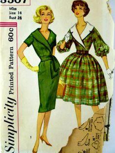 Vintage 60s Simplicity 3507 Pattern Misses by VintageNeedleFinds,