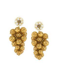 Shop Dolce & Gabbana sphere cluster clip-on earrings. 795 euro c'factor choice personal shopper follow me