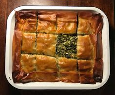 Which of the many versions of this moreish spinach and feta pie is best? Spinach Feta Pie, Frozen Spinach, Frozen Cherries, Frozen Fruit, Gourmet Recipes, Vegetarian Recipes, Healthy Recipes, Phyllo Recipes, Savoury Recipes