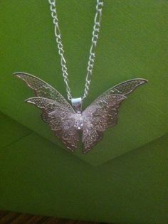 3 Dimensional Sterling Silver Butterfly Necklace | eBay