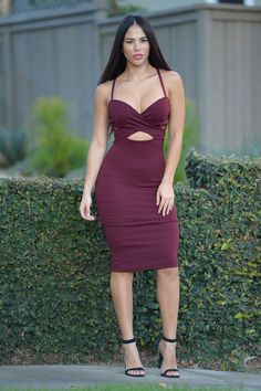 Set You Free Dress - Burgundy | Fashion Nova