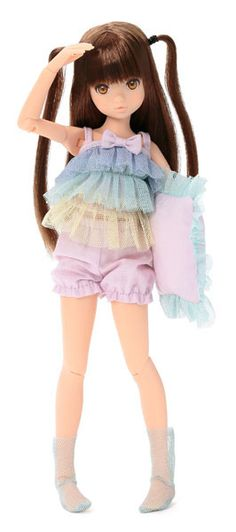 Furifuri Cami ruruko doll. Oh, the twintails are so cute and with that colorful outfit - I'm going to scream she's so cute #dolls