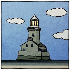 "Peter Brennan on Instagram: ""Beeves rock lighthouse"" Lighthouses, Irish, Snoopy, Rock, Fictional Characters, Instagram, Home Decor, Art, Art Background"