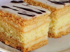 Polish Recipes, Pie Recipes, Baking Recipes, Dessert Recipes, Easy Blueberry Muffins, First Communion Cakes, Sandwich Cake, Love Food, Cakes And More