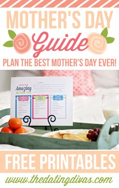 Take the pressure off of your husband this Mother's Day.  Just give him this printable- with three different options for creating your dream Mother's Day.  Love this idea.  Less work for him.  More love for me.  WIN-WIN!