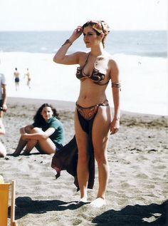 Princess Leia at the beach