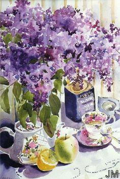 Janis McElmurry - #Art #Watercolor#flowers#Painting