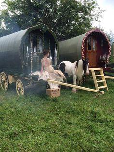 Sheep wagons...make good gypsy caravans