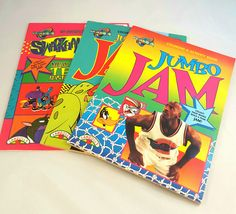 Space Jam Coloring Activity Book Michael Jordan Unused 1996 Collectible Set of 3
