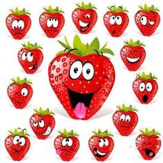 cartoon fruit expression 03 vector