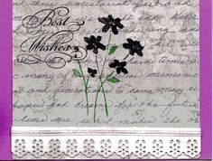 Birthday card for silver stampers