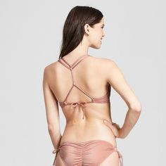 68ccb3e28b Women s Shore Light Lift Strappy Metallic Bikini Top - Shade   Shore Rose  Gold 38B