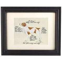 Brittany Spaniel Dog Print