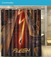 Comic Hero The Flash TV Show Lighting Run Custom 160x180cm Nice Shower Curtain Waterproof Bath