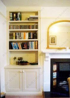 Handmade Shelving Alcove Unit And Cabinets By Oliver Hazael Bespoke Carpentry In Bath UK