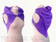 Plain Fleece 'Korrigan' Shrug Concise pixie by tpffaeriewear