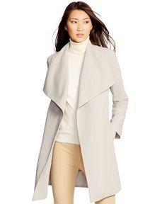 Lauren Ralph Lauren Belted Oversized-Collar Coat