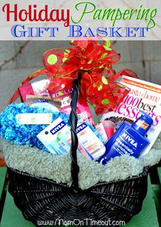 Holiday Pampering Gift Basket - Perfect for the holidays! #Christmas #NIVEAMoments for silent auction in Preseason Banquet