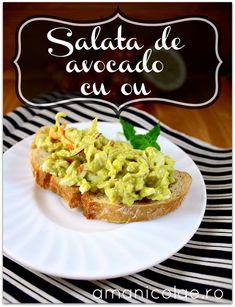 salata de avocado cu ou Avocado Recipes, Avocado Toast, Guacamole, Muffin, Cooking, Breakfast, Healthy, Ethnic Recipes, Blog
