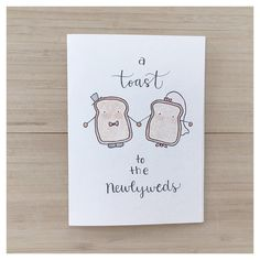 Newlywed Toast // wedding card, congratulations, engagement card, wedding gift, toast, cheers, watercolour card, toast card, newlyweds gift by kenziecardco on Etsy https://www.etsy.com/uk/listing/467148097/newlywed-toast-wedding-card