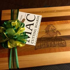 A school logo engraved on our Custom Cutting Boards, Personalized Cutting Board, School Logo, Logo Images, Templates, Etsy, Stencils, Logo Pictures, Western Food