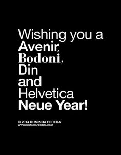 Happy Helvetica Neue Year 2014 Art Print