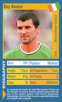 2003 Top Trumps World Football Stars #NNO26 Roy Keane Front