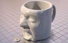 Your Mug on a Mug - Great Gift Idea! - ShapeShot by Direct Dimensions, Inc. - Get your 3D face scan at Direct Dimensions in Baltimore or the MakerBot store in NYC and check out ShapeShot.com for some of the awesome 3D printing possibilities!