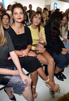 Topshop Unique, Burberry... Cette semaine, Londres va vibrer au rythme des défilés de la Fashion Week et les stars se bousculent évidemment pour aller admirer le spectacle au pr