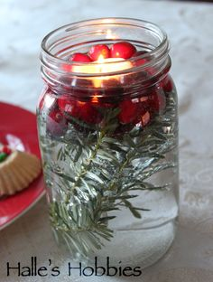 Mason Jar Christmas candle