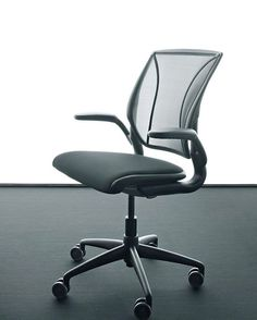 Humanscale's Diffrient World Task chair is lightweight, with low-abrasion, non-stretch mesh.