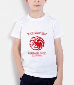 >> Click to Buy << 2017 summer Targaryen Dragon T shirt kids Fire and blood Short sleeve Stark Wolf T shirt children Game of Thrones T-shirt mma #Affiliate
