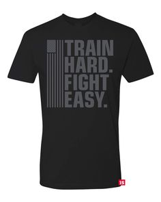 TRAIN HARD FIGHT EASY  - Red Label Edition (Standard Shirt) from ONE SHOT INDUSTRIES®