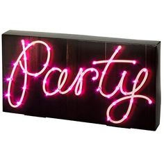 Talking Tables Party Illuminations Party Sign with 40 LED Lights