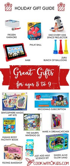 Holiday Gift Guide for Ages 5-9: What should you buy for your favorite 5-9 year old? I have some great suggestions for you. Some of these gift ideas are better for boys and some for girls. I will leave that for you to decide. Most of these gift guide suggestions were tested by my 7 …