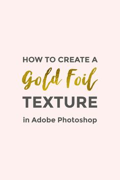 In this tutorial you will learn how to create a gold foil texture using Adobe Photoshop, how to create a seamless pattern, how to colorize it and how to add it to text.