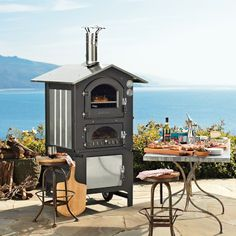 I love the Fontana Gusto Wood-Fired Outdoor Ovens on Williams-Sonoma.com