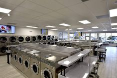 Find ADL Consulting Services commercial coin and card laundry industry gallery view. Coin Laundromat, Laundromat Business, Laundry Shop, Consultant Business, Business Design, Industrial, House Design, Photos, Dream Homes