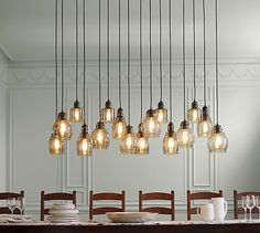 Shop Pottery Barn for expertly crafted pendant lighting. Find pendant light fixtures in a variety of styles and finishes, including glass, brass and nickel. Rustic Pendant Lighting Kitchen, Pottery Barn Lighting, Rustic Chandelier, Kitchen Pendants, Glass Pendant Light, Pendant Light Fixtures, Rustic Lighting, Pendant Lights, Glass Chandelier