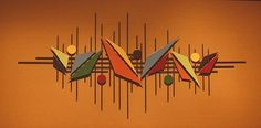 Abstract Metal Sculpture Wall Art Retro Color US Artist Hand Made Jere Style