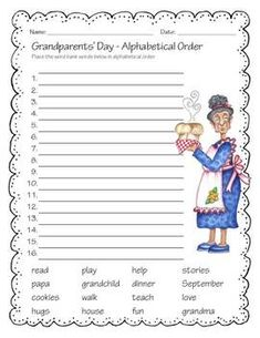 Granparents Day activity for the class