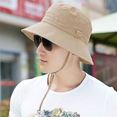 ce4f83a28a2 Plain bucket hat for men summer protection fishing hat package design
