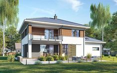 Projekt domu E-220 158,9 m2 - koszt budowy - EXTRADOM Home Fashion, How To Plan, Mansions, House Styles, Outdoor Decor, Home Decor, Home, House Design, Decoration Home