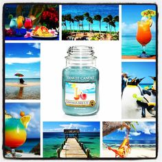Yankee Candle Bahama Breeze collage by SwiatZapachow.pl