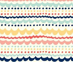 Fitted Crib Sheet in Chevron Scallop Fun by OliveAndAndrew on Etsy, $55.00